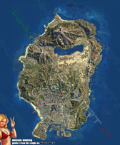 Mappa satellitare mosaici Monkey GTA 5