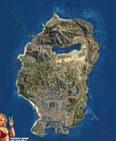 Mappa satellitare proprietà GTA 5