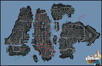 Mappa dei gabbiani in GTA: The Ballad of Gay Tony
